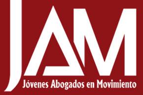 Logo Jóvenes Abogados en Movimiento invertido