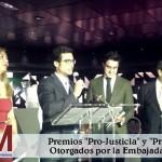 La Asociación Jóvenes por México concede a JAM, a través de su Excma.  Embajadora, el premio Pro-Justicia y Pro-Libertad