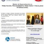 Máster de Especialización en Tributación, Procedimiento Tributario y Fiscalidad Internacional